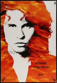 6s1003 DOORS teaser DS 1sh 1990 cool image of Val Kilmer as Jim Morrison, directed by Oliver Stone!
