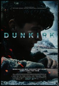 6s1005 DUNKIRK advance DS 1sh 2017 Christopher Nolan, Tom Hardy, Murphy, different close-up!
