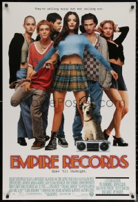 6s1013 EMPIRE RECORDS DS 1sh 1995 Liv Tyler, Anthony LaPaglia, Renee Zellweger, Ethan Embry!