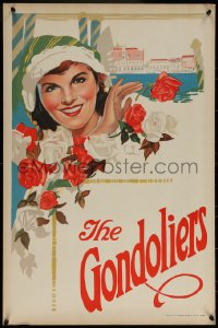 6s0227 GONDOLIERS stage play English double crown 1910s cool art of pretty queen-to-be Casilda!