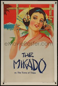 6s0234 MIKADO stage play English double crown 1930s Gilbert & Sullivan opera, art of pretty woman!