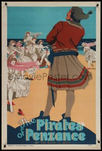 6s0239 PIRATES OF PENZANCE stage play English double crown 1920 Gilbert & Sullivan opera, ladies!