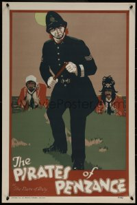 6s0240 PIRATES OF PENZANCE stage play English double crown 1920 Gilbert & Sullivan opera, police!