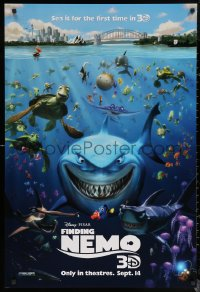 6s1022 FINDING NEMO advance DS 1sh R2012 Disney & Pixar animated fish movie, cool image of cast!