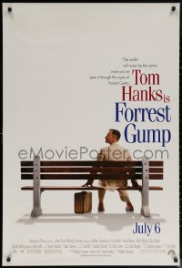 6s1025 FORREST GUMP int'l advance DS 1sh 1994 Tom Hanks sits on bench, Robert Zemeckis classic!