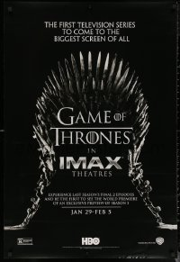 6s1029 GAME OF THRONES IMAX teaser DS 1sh 2015 1st TV series to come to the biggest screen of all!