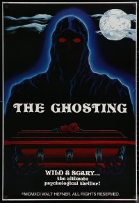 6s1030 GHOSTING teaser 1sh 1992 the ultimate psychological thriller, creepy figure over coffin!