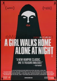 6s1031 GIRL WALKS HOME ALONE AT NIGHT 27x39 1sh 2014 completely different creepy vampire horror art!
