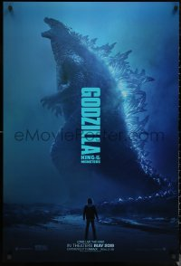 6s1039 GODZILLA: KING OF THE MONSTERS teaser DS 1sh 2019 great full-length image of the creature!