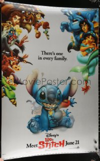 6s0004 LILO & STITCH lenticular 1sh 2002 Disney Hawaiian fantasy cartoon, Stitch wearing a collar!