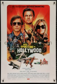 6s1163 ONCE UPON A TIME IN HOLLYWOOD advance DS 1sh 2019 Tarantino, montage art by Steve Chorney!