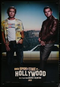 6s1164 ONCE UPON A TIME IN HOLLYWOOD teaser DS 1sh 2019 Brad Pitt and Leonardo DiCaprio, Tarantino!