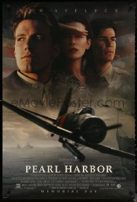 6s1172 PEARL HARBOR advance DS 1sh 2001 cast portrait of Ben Affleck, Josh Hartnett, Beckinsale, WWII