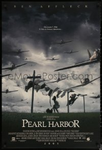 6s1174 PEARL HARBOR int'l advance DS 1sh 2001 World War II fighter planes flying over laundry line!