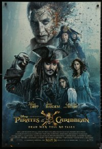 6s1178 PIRATES OF THE CARIBBEAN: DEAD MEN TELL NO TALES advance DS 1sh 2017 Depp, Bardem, top cast!