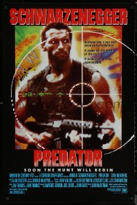 6s1182 PREDATOR 1sh 1987 Arnold Schwarzenegger sci-fi, like nothing on Earth!