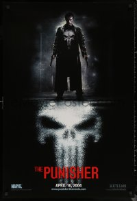 6s1185 PUNISHER teaser DS 1sh 2004 Marvel Comic superhero, great image of Thomas Jane in title role!