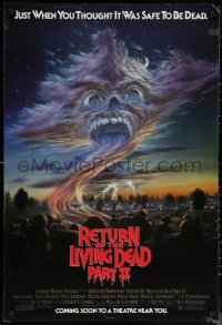 6s1196 RETURN OF THE LIVING DEAD 2 advance 1sh 1988 just when you thought it was safe to be dead!