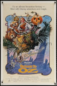 6s1197 RETURN TO OZ 1sh 1985 Walt Disney, cool Drew Struzan art of very young Fairuza Balk!