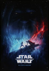 6s1200 RISE OF SKYWALKER int'l French language teaser DS 1sh 2019 Star Wars, 20 December!