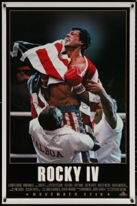 6s1202 ROCKY IV advance 1sh 1985 different close up of heavyweight boxing champ Sylvester Stallone!
