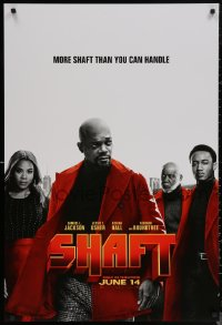 6s1211 SHAFT teaser DS 1sh 2019 Samuel L. Jackson in the title role, he's more than you can handle!