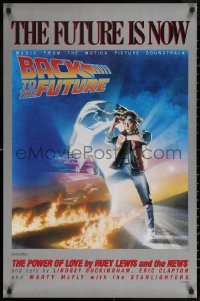 6s0031 BACK TO THE FUTURE 23x35 music poster 1985 art of Michael J. Fox & Delorean by Drew Struzan!