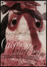 6s0222 CASANOVA KEHRT HEIM 24x33 German stage poster 1989 wild different Cestmir Pechr art!