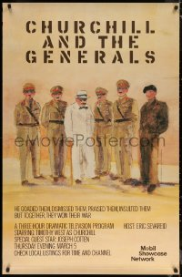 6s0012 CHURCHILL & THE GENERALS tv poster 1981 wonderful art of Timothy West in title role!