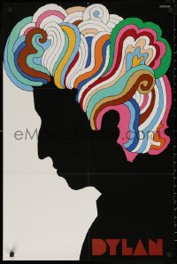 6s0032 DYLAN 22x33 music poster 1967 colorful silhouette art of Bob by Milton Glaser!