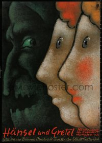 6s0229 HANSEL UND GRETEL 24x33 German stage poster 1985 them and the witch by Mieczyslaw Gorowski!