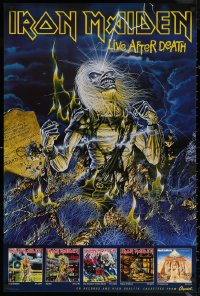 6s0033 IRON MAIDEN 24x36 music poster 1986 Live After Death, Riggs art of Eddie & tombstone!
