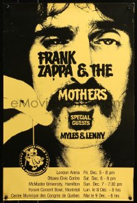 6s0035 MOTHERS OF INVENTION 17x25 Canadian music poster 1970s image of Frank Zapaa with yo-yo!