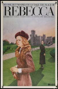 6s0013 REBECCA tv poster 1980 Schongut art of concerned Joanna David, no one could replace her!