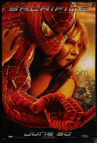 6s1224 SPIDER-MAN 2 teaser DS 1sh 2004 Tobey Maguire in title role with Kirsten Dunst, Sacrifice!