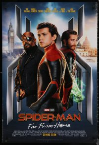 6s1225 SPIDER-MAN: FAR FROM HOME int'l advance DS 1sh 2019 Marvel Comics, Tom Holland in title role!