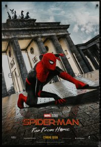 6s1228 SPIDER-MAN: FAR FROM HOME int'l teaser DS 1sh 2019 Marvel Comics, Tom Holland in Berlin!