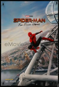 6s1229 SPIDER-MAN: FAR FROM HOME int'l teaser DS 1sh 2019 Marvel Comics, Tom Holland over London!