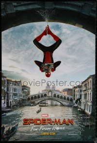 6s1227 SPIDER-MAN: FAR FROM HOME int'l teaser DS 1sh 2019 Marvel Comics, hanging out in Venice!