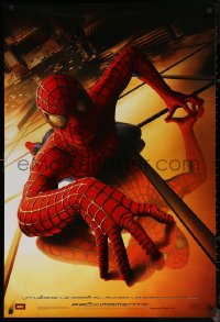 6s1222 SPIDER-MAN int'l Spanish language teaser DS 1sh 2002 Tobey Maguire climbing building, Raimi, Marvel!