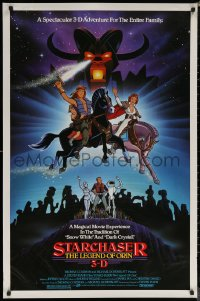 6s1234 STARCHASER 1sh 1984 3-D cartoon, the ultimate robot wants to rule the universe, cast images!