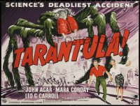 6s0011 TARANTULA S2 poster 2000 great horror art of town running from 100 ft spider monster!