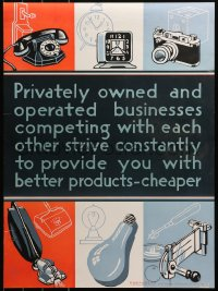 6s0206 BETTER PRODUCTS CHEAPER 20x27 WWII war poster 1944 art of consumer goods!