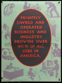 6s0212 OVER 90% OF ALL JOBS IN AMERICA 20x27 WWII war poster 1943 art of people working!