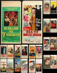 6t0945 LOT OF 22 FORMERLY FOLDED ITALIAN LOCANDINAS 1950s-1990s a variety of movie images!