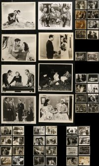 6t0817 LOT OF 50 8X10 REPRO PHOTOS 1980s great scenes from a variety of classic Hollywood movies!