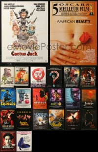 6t0984 LOT OF 22 FORMERLY FOLDED 15X21 FRENCH POSTERS 1960s-2010s a variety of movie images!