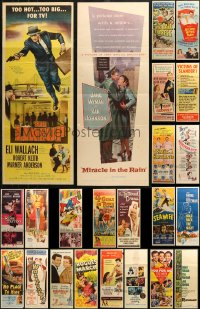 6t0959 LOT OF 23 FORMERLY FOLDED INSERTS 1940s-1950s great images from a variety of movies!