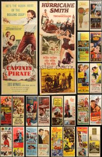6t0958 LOT OF 24 FORMERLY FOLDED INSERTS 1950s great images from a variety of different movies!
