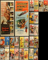 6t0956 LOT OF 26 FORMERLY FOLDED INSERTS 1950s great images from a variety of different movies!